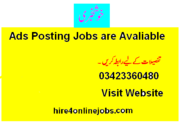 Online Ads Posting Jobs in Pakistan